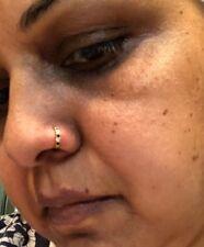 UNIQUE BOHO 22 kt gold nose ring pin HOOP India 18 gauge SMALLER-USA SELLER #BZ