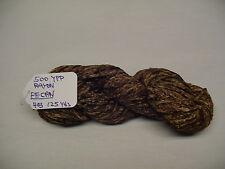 RAYON Chenille Yarn 500 YPP 1 Skein, 4 oz.125 Yards Color. PECAN