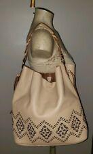 Isabella Fiore big light brown leather tote hobo bag shopper handbag slouchy