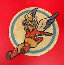 WASP (WOMEN'S AIR FORCE SERVICE PILOT) LAYERED LEATHER SQD. PATCH