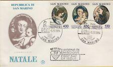 143550 busta fdc primo giorno first day san marino natale