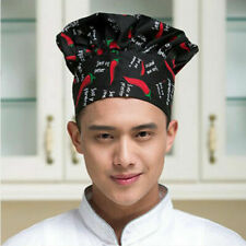 2 Adjustable Elastic Baker Comfortable Cook Hat Chef Cap Catering Red Peper