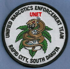 DEA RAPID CITY SOUTH DAKOTA UNIFIED NARCOTICS ENFORCEMENT TEAM POLICE PATCH