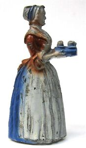 1920's figural BAKER CHOCOLATE GIRL Advertising cast metal PENCIL SHARPENER *