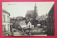 AK PENIG in Sachsen um 1920 Brücke mit Blick zur Kirche    ( 28362