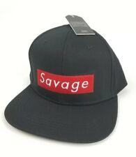 8e6d1d20fa5 Savage Snapback Hat Cap Black Red Beautiful Giant One Size Fits All New