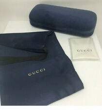 😎 NEW Authentic GUCCI Large Blue 🕶Sunglasses Case +Pouch +Cleaning Cloth