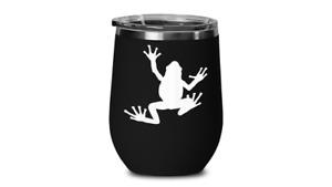 Frog Wine Tumbler Travel Coffee Cup Tree Climbing Bull Froggy