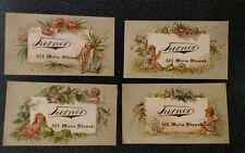 Antique lot of 4 trade card  Victorian cherubs angels putting Turner
