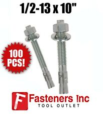 """FABORY Wedge Anchor,Steel,Zinc Plated,1/"""" D,9/"""" L U70411.100.0900"""