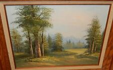 ANTONIO MOUNTAIN LANDSCAPE OIL ON CANVAS PAINTING