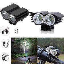 FARO 4x LED MTB 6000 LUMEN BICI FANALE CREE XM-L U2 BICICLETTA BICYCLE LIGHT T6