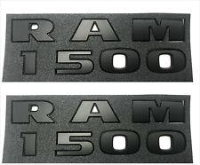 New 5Pcs Sets RAM 1500 4X4 Plus 5.7 Liter HEMI Emblem Black 3D Letter Decal Rear Side Door Nameplate Badge Sticker For 2013-2018 Dodge RAM 1500