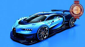 NEW BUGATTI VGT SUPERCAR SPORTS HYPERCAR SUPER CAR PHOTO PRINT PREMIUM POSTER