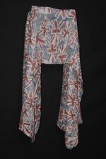Maroon White & Deep Ocean Blue UK Flag Print Sheer Urban Ladies' Scarf (S97)