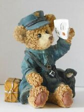 Mailman Postal Worker Letter Carrier Bear Figurine