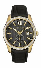Wittnauer Men's WN1011 Quartz Crystal Accents Gold-Tone Case 43mm Watch