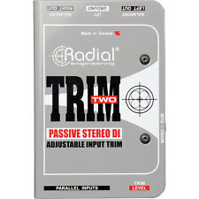 Radial Engineering Trim-Two Stereo DI with Volume Control New 2 Day Delivery