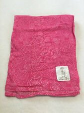 Little Giraffe Pink White Dot Swirl Cotton Muslin Baby Swaddle Blanket