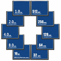 1/2/4/8/16GB 32/64/128/256/512MB CF CompactFlash Memory Card Standard OEM Useful