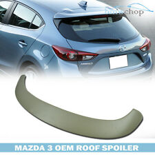 Unpainted Mazda3 5DR Hatchback (STYLE OE) Tail Rear Roof Trunk Spoiler Wing