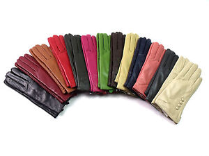 Premium Quality Genuine Soft Leather Gloves Plush Lined Driving Warm