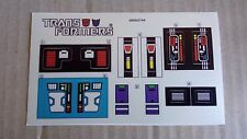 A Transformers premium quality sticker/decal sheet for G1 Punch/ Counterpunch