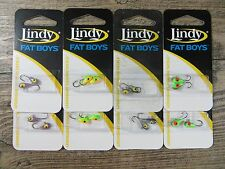 LOT OF 16 - LINDY FAT BOYS - SIZE 10 HOOKS -  ICE FISHING JIGS - CRAPPIE - PERCH