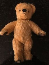 Antique Mohair Chad Valley Straw Filled Teddy Bear Glass Eyes 12� Jointed