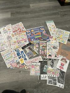 Lot of Over 20 NEW Packs Baby Girl Scrapbook Stickers - Jolee's Recollections