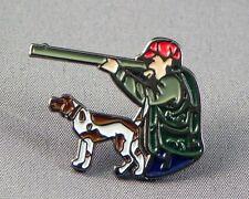 GUN DOG - PIN BADGE  - HUNTER HUNTING SHOOTING GAME   (NB-02)