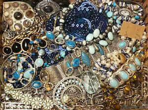 HUGE 10 lbs Vintage Mod Jewelry Lot Some Signed Most Wearable Southwest Ethnic +