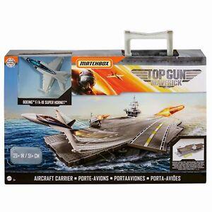 Matchbox Top Gun Maverick US Navy Aircraft Carrier F-18 Hornet Jet Plane Playset