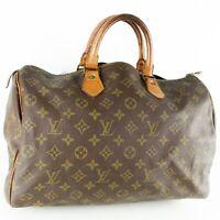 LOUIS VUITTON SPEEDY 35 Hand Bag Doctor Purse Monogram M41524 JUNK w/ Padlock
