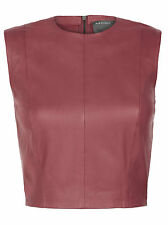 Muubaa Arkansas Pomegranate Leather Bodice vest. RRP £195. UK 10