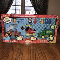 RYAN'S WORLD Set 2019 FIRE TRUCK Panda+RESCUE HELICOPTER+Gus Gummy Gator Recycle
