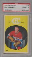 1962 Parkhurst Hockey Don Marshall Card # 43 PSA 8 Near Mint - Mint