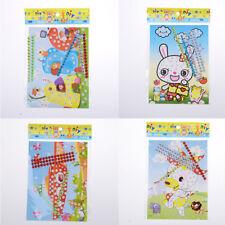 12X DIY Bling  Diamond Sticker Handmade Crysta Paste Painting Kids Craft HF