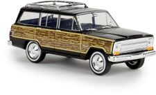 "Brekina 19855 - 1/87 Jeep Wagoneer ""Woody"" - Schwarz - Neu"