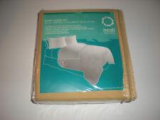 Nestl Bedding Duvet Cover & Pillow Shams 3 Piece Set Camel Gold Queen Size New