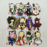 Anime  Fate/Grand Order FGO Rubber Keychain Key Ring Straps Rare cosplay