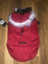Canada Pooch Dog RED PARKA COAT HOODIE Size Large 18inches  NEW