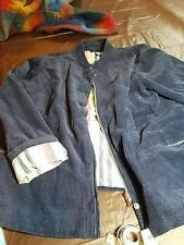 Denim & Co. Corduroy Blue Jacket size XL