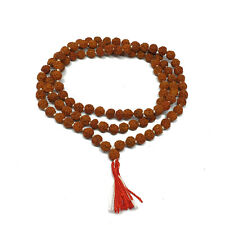 Rudraksha Mala Tibetan Buddhist Hindu Prayer Beads, Rudraksha 108+1 beads, 6mm