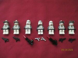 LEGO Star Wars Minifigures LOT, Wolfpack,Clone Gunner,Tank  Troopers & Weapons