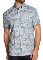 Weatherproof Vintage Mens Shirt Blue Size 2XL Button Down Floral Leaf $55 236