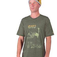 GNU snowboard skateboard surf COLVER PUNK TEE-SHIRT mens MEDIUM GREEN New