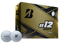 Bridgestone e12 Soft Golf Balls - 1 Dozen White -  Mens