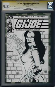G.I.JOE Real American Hero #196 Variant CGC 9.8 Signed Mel Smith with Sketch