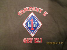 First Combat Engineer Battalion Medium S/S Tee Shirt, Company E OEF 12.1